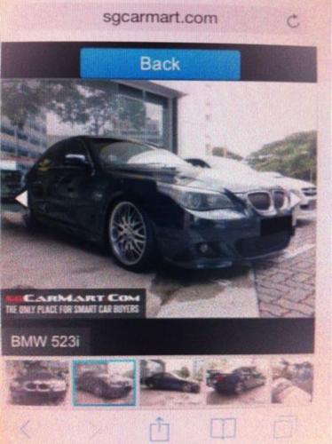 Drive a BMW 523i till 31-Aug-15 only 3k loss