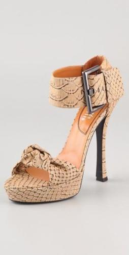 Edmundo Castillo Eva Printed Python Sandals Size 36.5