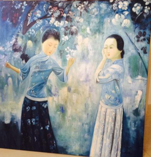 Elegant painting on canvas frame for sale