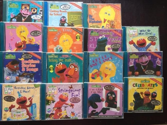 Elmo & Friends VCDs @ $4 Each