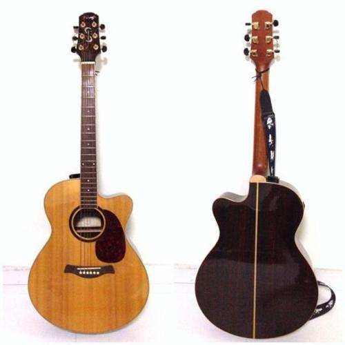 FAIRCLOUGH ACOUSTIC-ELECTRIC GUITAR (SOLID SPRUCE TOP)