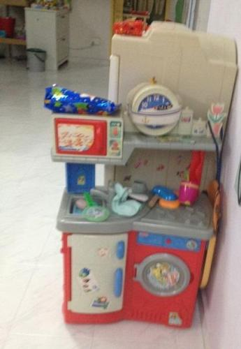 Fisher Price Kitchen set with washing machine for Sale in ...