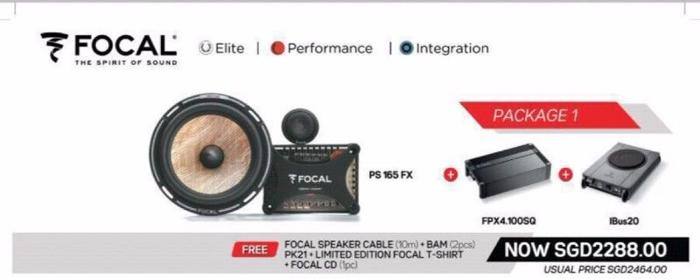 Focal PS 165FX Component Speakers (Package With Amplifier