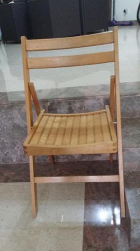 Folding Wooden Table and 4 chairs