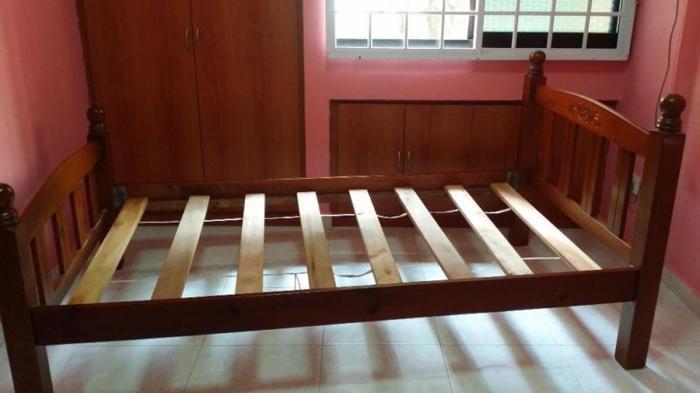 For SALE -2 pcs Super Single Bed Wooden