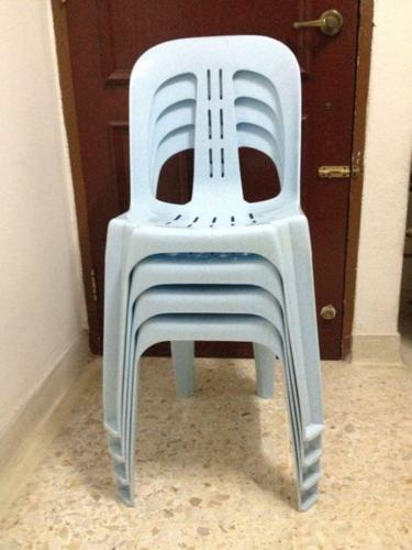 Four plastic chair for sale