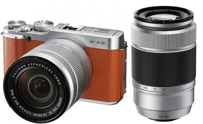 Fujifilm X-A2 Camera (Brown XA2) + XC 16-50mm f3.5-5.6