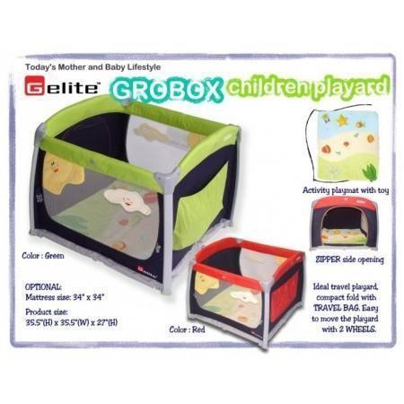 GELITE GROBOX Playpen (Red colour). Condition 7/10