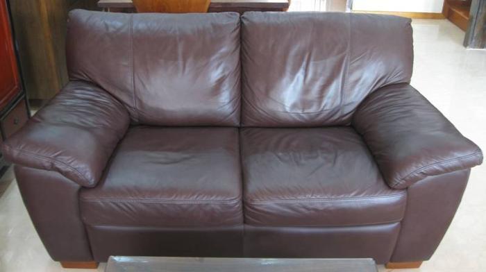 Genuine Full Leather 2-Seater Sofa
