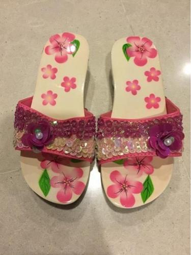 Girls Girls Beaded Slippers