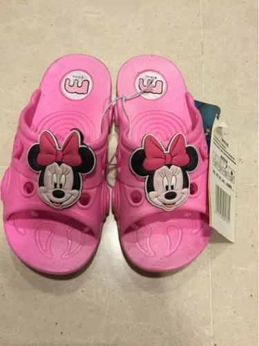 Girls Pink Minnie Mouse Slippers