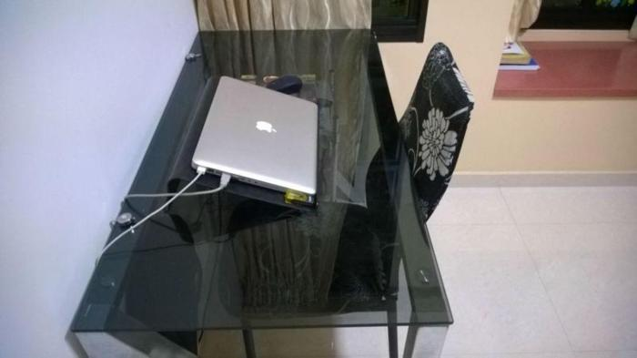 Glass Table and Chair for Sale