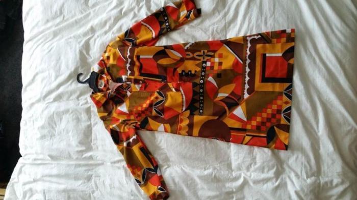 Glorious Vintage 1970's designer dress, US Size 10 or