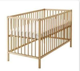Good Day!! Wooden Baby cot (Ikea) for sale. Excellant