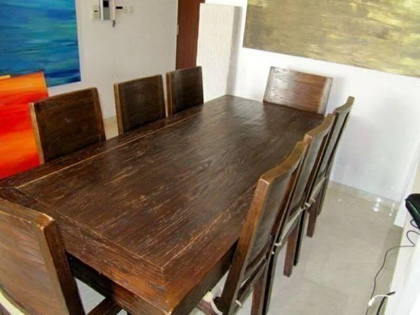 GREAT OFFER! Rustic Teak Dining Table For Sale!!!