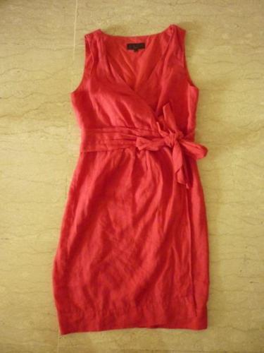 Great Plains Linen Red Dress