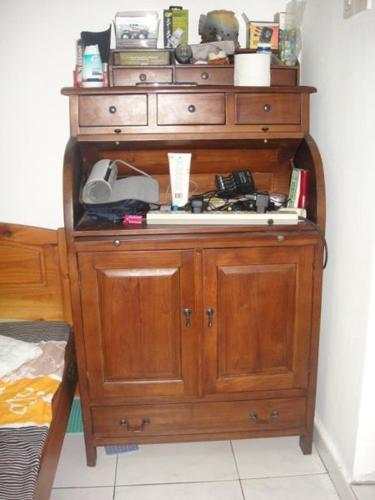 USED: Hand made Teak Wood Cabinets + Study table +