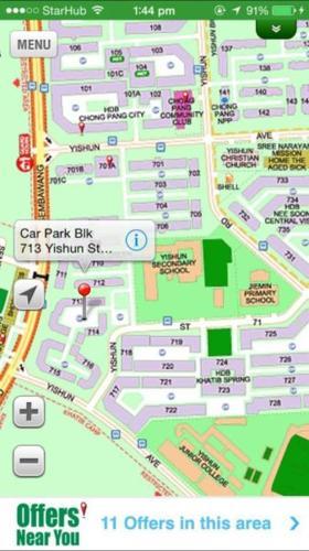 HDB Room Rental: Blk 713 Yishun Street 71 1 Bedrooms