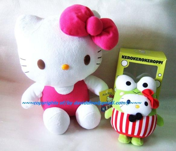 ~~~HeLLo KiTTy & KeRoPi Pair SOFt Toy $38 ~~~