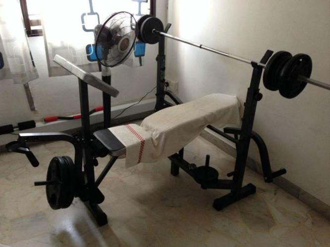 Home Gym Bench Press Set without weights for just $180