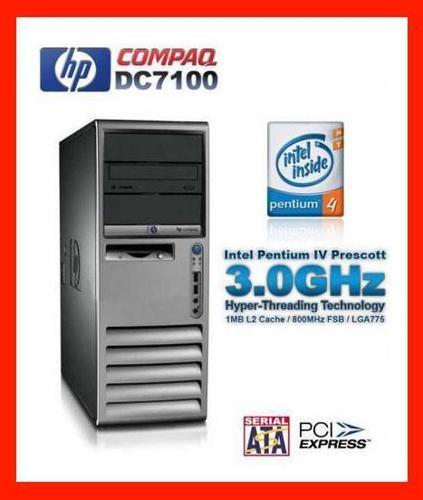 HP Compaq dc7100 Tower Intel 3GHz XP Good Workstation