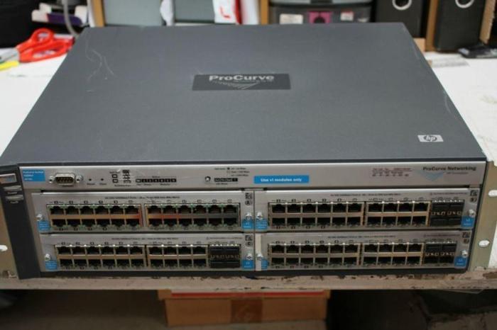 HP Procurve 4204vl (with 2 x J8768A and 2 x J9033A ) =