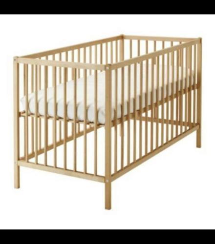 Ikea Baby Cot In BEECH