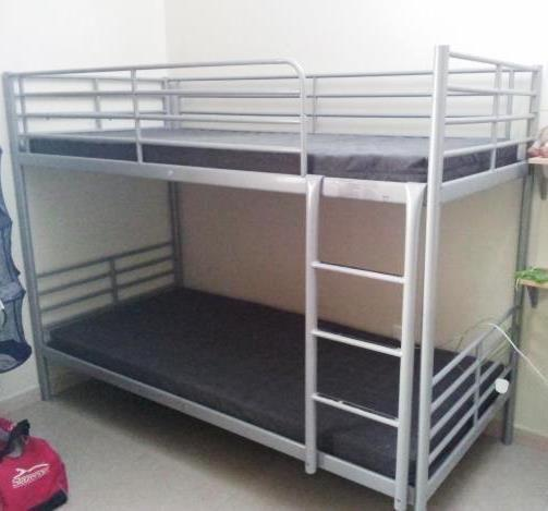 Ikea Bunk Bed Frame Double Deck Bed And Sprung Mattresses For Sale