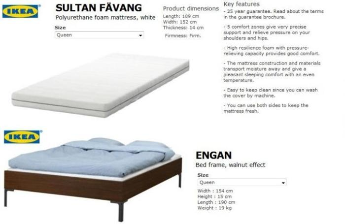 Ikea Engan Bed Frame Sultan Favang Mattress For Sale For Sale In