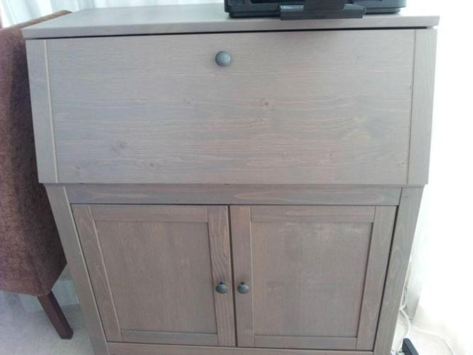 Ikea hemnes bureau light brown green for sale in grange garden