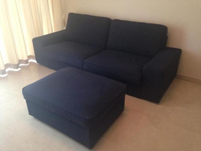 IKEA KIVIK 3-Seater Sofa with Foot Stool