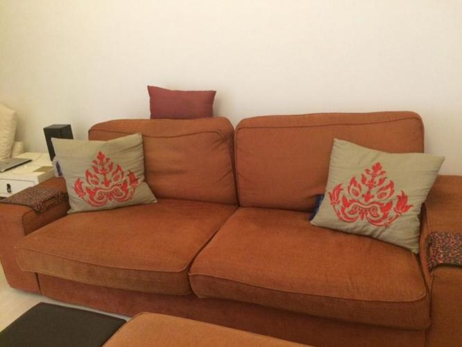 Tremendous Ikea Kivik 3 Seater Sofa And Footstool Orange For Sale In Download Free Architecture Designs Rallybritishbridgeorg