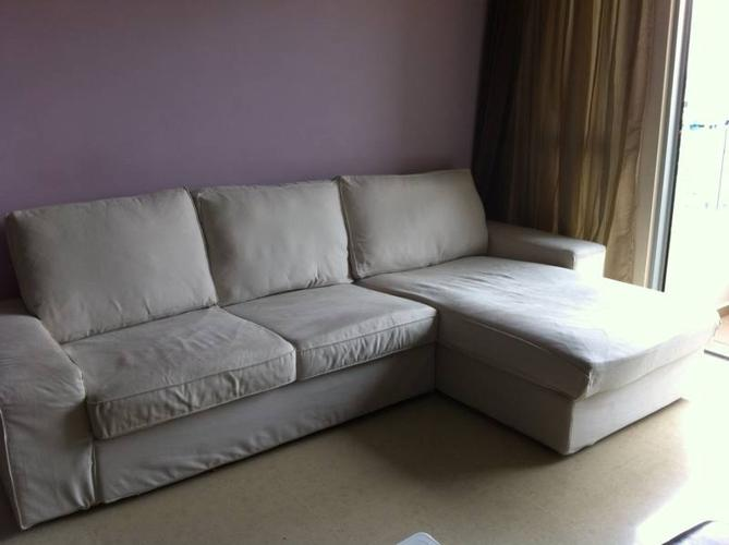Ikea KIVIK Two seat sofa and chaise lounge for Sale in Jalan Rama