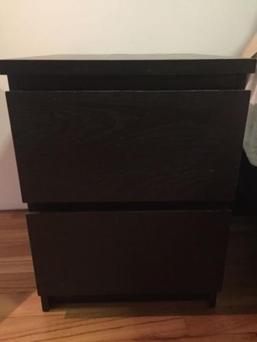 IKEA malm bedside tables -2 - excellent condition!!