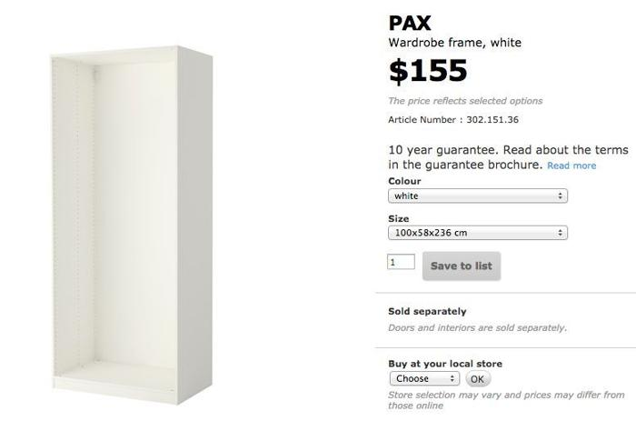 IKEA PAX Large Wardrobe White - Like NEW! for Sale in Wilby Road
