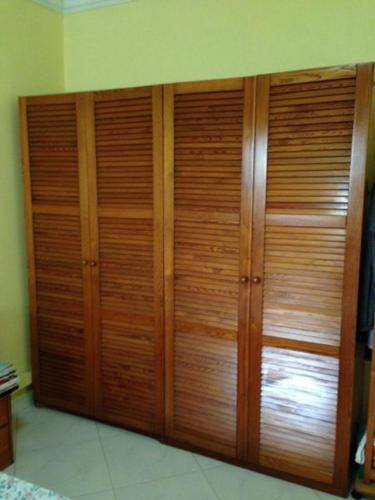 Ikea Pine Wood 4 Door Wardrobe ....Hurry moving house