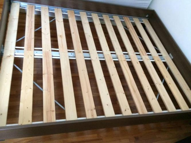 Ikea Queen size bed with a mattress