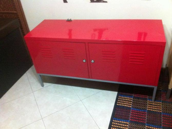 Ikea Red Ps Metal Cabinet With Lock