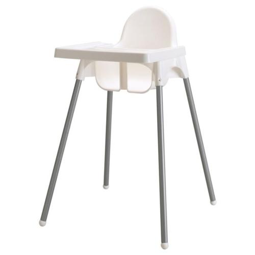 IKEA White Baby High Chair with Tray