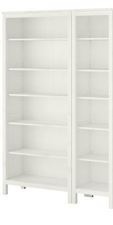 IMMACULATE WHITE BOOKSHELVES, PAIR. NEW $550. NOW $175.