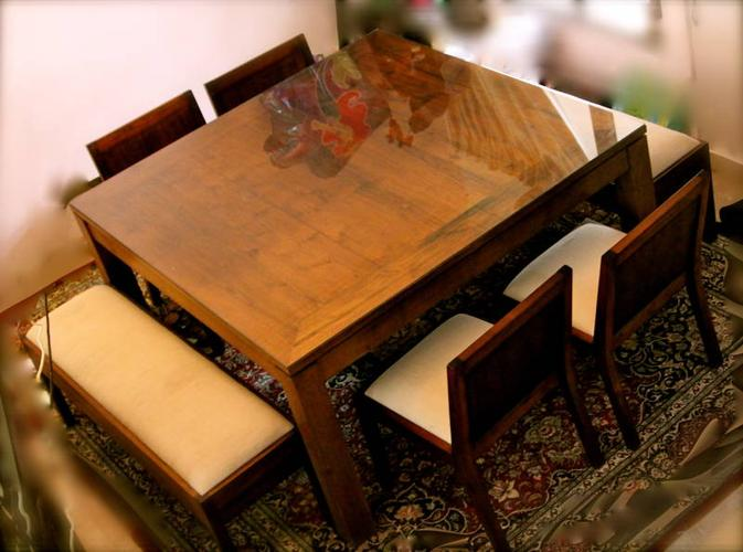 Indonesian Wood 8 Seater Square Dining Room Table Fr