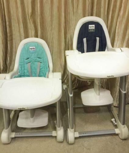 Inglesina Italian Design High Chair, Aqua Green or Grey
