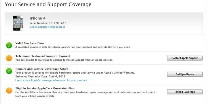 Iphone 4 32 GB, Warranty till April 2012
