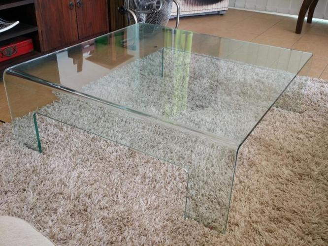 Italian Design Square Glass Coffee Table for SALE $$350