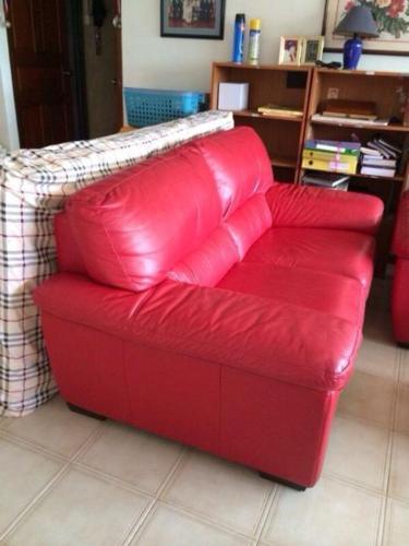Italian Sofa Pure Red