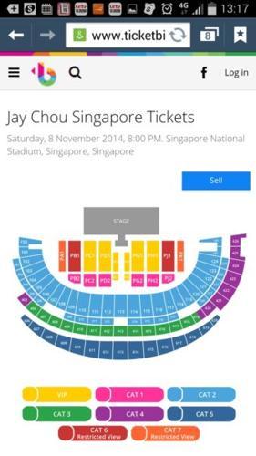 Jay Chou OPUS 2014 Singapore VVIP tickets