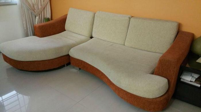 L Shape fabric sofa used condition