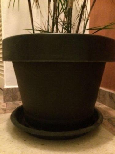 Large Black Planter Pots