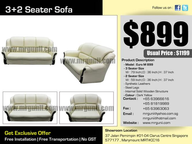 LATEST NEW 3+2 SEATER SOFA ONLY AT:$899, UP:$1199, NO