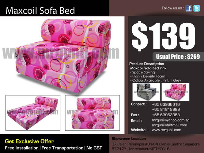LATEST NEW SOFA BED ONLY AT :$139, UP : $269, NO GST